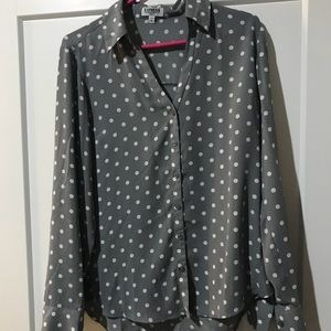 Button down polka dotted shirt